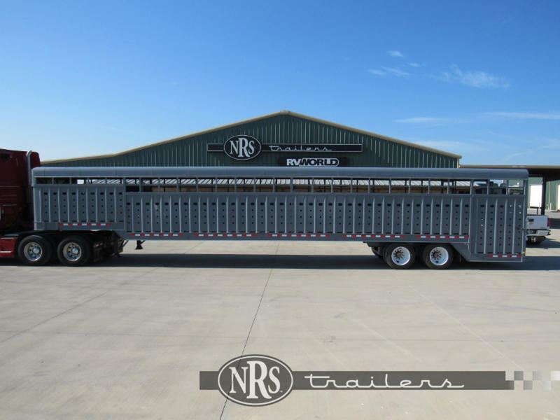 2019 Big Bend 53' ground loader livestock trailer