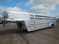 2020 Platinum Coach 28' stock trailer 8 wide with 2-8,000# axles