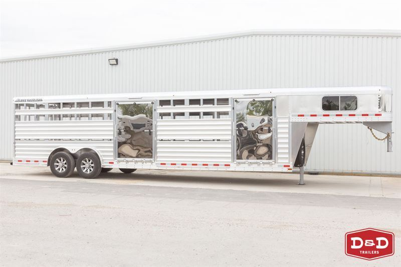 2021 Elite 20 ft show cattle combo 2 side ramps