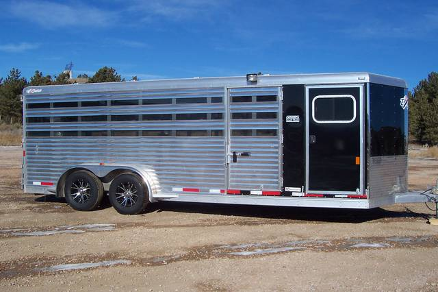 2016 Exiss 7x20 Low Profile Stock Trailer