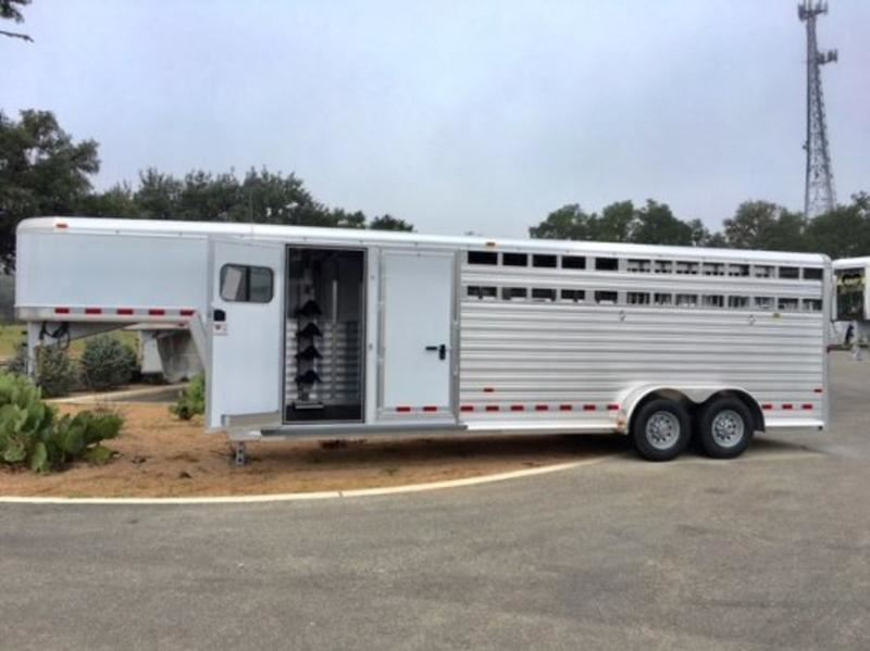 2018 hart trailers 24 stock combo with saddle slide